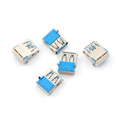 $1.54 • Buy 5Pcs USB 3.0 Type A Female Right Angle 9Pin DIP Socket PCB Solder Connector C.qi