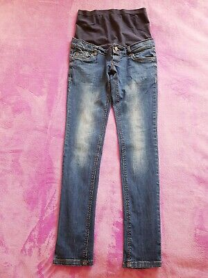 £10 • Buy Mamalicious Maternity Size 10 Over Bump Skinny Jeans L31  - Blue