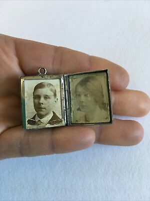 £9.99 • Buy Antique Vintage Watch Fob Photo Frame Stamp Case Collectables Curio Makers Mark