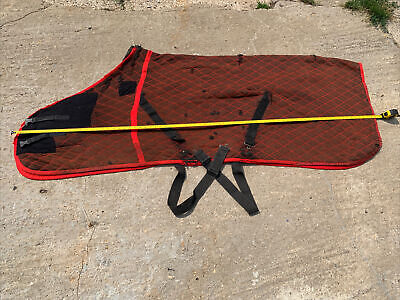 £24.99 • Buy 6ft3 Colin Cook Thermalux Like Thermatex Stable Travel Rug Red & Brown