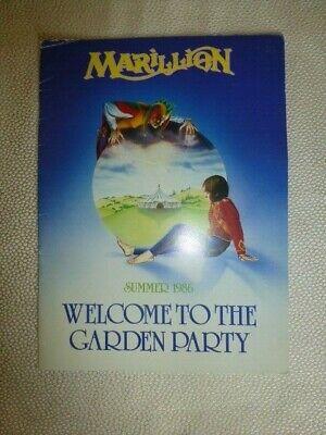 £10.50 • Buy Marillion - Welcome To The Garden Party Tour Programme 1986 Plus Poster Inserts
