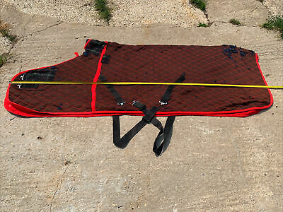 £24.99 • Buy 6ft9 Colin Cook Thermalux Like Thermatex Stable Travel Rug Red & Brown