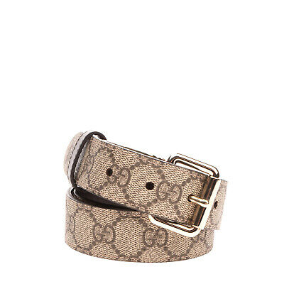 AU115.85 • Buy RRP €325 GUCCI Leather Belt Size 80 / 32 GG Pattern Pin Buckle Closure