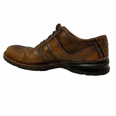 $15.34 • Buy Clarks Mens Brown Leather Lace-up Touareg Vibe 70852 Dress Shoes Size 12 M