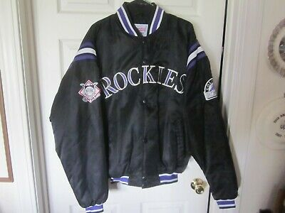 $95 • Buy Vintage  Colorado Rockies Starter Diamond Collection Satin Quilt Lined Jacket L