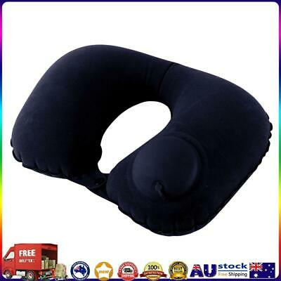 AU10.10 • Buy Inflatable Neck Pillow Support U Shaped Travel Pillow For Car (Dark Blue) *AU