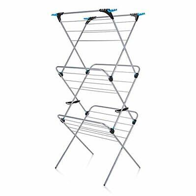 £32.30 • Buy Clothes Airer Minky 3 Tier Plus Indoor Airer With 21 M Drying Space, Silver