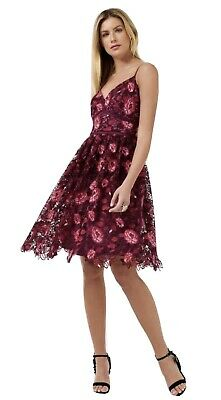 AU80 • Buy Forever New Claire Floral Lace Prom Dress