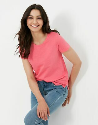 £9.95 • Buy Joules Womens Laundered Classic Crew T-Shirt - Pink