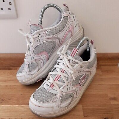 £24.99 • Buy Sketchers Shape-Ups Womens Trainers Walking Fitness Shoes Size UK5 Pink/White
