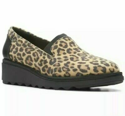 £29.99 • Buy Clarks Sharon Dolly Ladies/Girls Leopard Print Casual Slip On Shoes Eu36 Uk 3.5