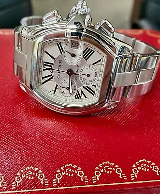 $6500 • Buy Cartier Roadster XL 2618 Stainless Steel Automatic Chronograph W/ Box & Papers