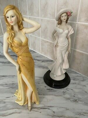 $ CDN14.71 • Buy Pair Of Porcelain Lady Figurines, The Leonardo Collection & The Regal Collec