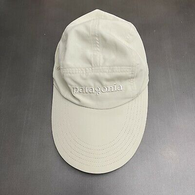 £39.56 • Buy Patagonia Long Bill Fly Fishing Cap Khaki Nylon Outdoors Fitted Hat Size S