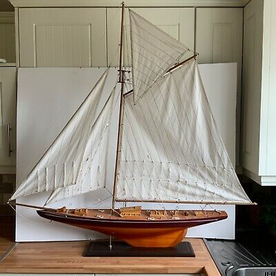£125 • Buy Large Scale Model Of A Sailing Ship On Stand Nautical Clipper Boat