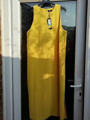 £15 • Buy Marks And Spencer Autograph Yellow Linen Maxi Dress 14