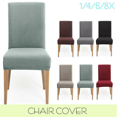 AU7.99 • Buy Dining Chair Covers Spandex Slip Cover Soft Thick Stretch Wedding Banquet Party