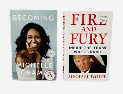 AU26.26 • Buy Lot Of 2  Becoming   Fire And Fury  Hardcover Michelle Obama, Michael Wolff