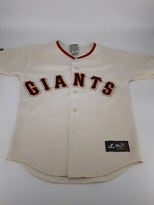$29.99 • Buy Sf Giants Majestic Jersey M912582 67y1 Size Medium Youth