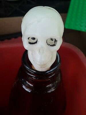 $ CDN15.74 • Buy Vintage Skeleton Head Halloween Plastic Candy Container Topper Blowmold