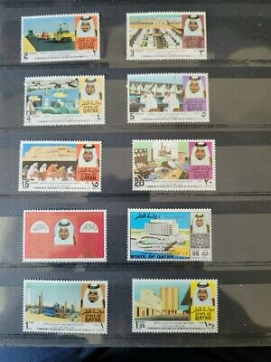 $ CDN5 • Buy Qatar 1973-1st Anniversary Of The Accession Of H.H. The Amir 22/2/1973-10 Stamps