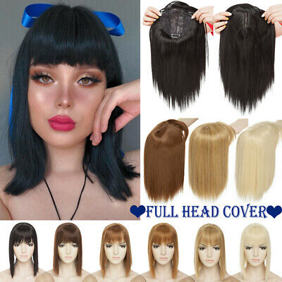 £11.39 • Buy 100% Natural Topper Hair Piece Clip In Full Head As Human Toupee Hair Extensions