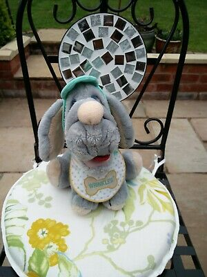 £5 • Buy RARE VINTAGE 1980's WRINKLES DOG, 9 , CLOTHED, SOFT TOY PLUSH TOY, VG COND.