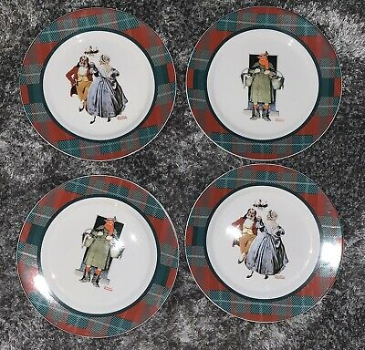 $ CDN12.58 • Buy Norman Rockwell Collection The Saturday Evening Post 4 Dinner Plates~Christmas