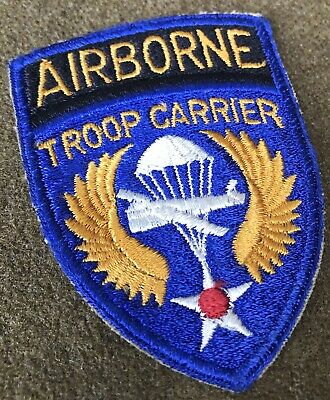 £3.64 • Buy WW2 US Army Airborne Troop Carrier Patch No Glow