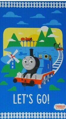 £7.50 • Buy Thomas The Tank Engine Fabric Cotton Craft Quilting Large Panel Trains 24  X 44