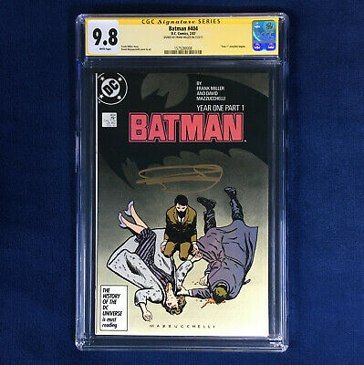 £435 • Buy Batman 404 CGC 9.8 SS - Classic Year One Story (1987) - Signed By Frank Miller