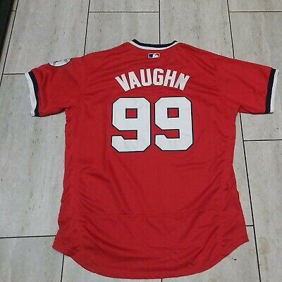 $38 • Buy Ricky Vaughn 99 Cleveland Indians Red  Jersey Majestic Authentic Flex Base XL/48