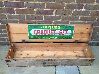 £49.99 • Buy Wooden Croquet Set John Jaques In Wooden Box With Rope Handles