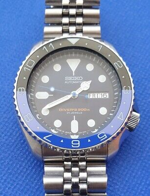 $ CDN320.25 • Buy Seiko SKX009 Modified With Batman Lumed Insert And NH36 Movement Upgrade