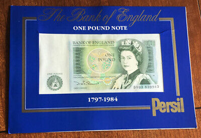 £1.99 • Buy Bank Of England Uncirculated One Pound Note:1984: Persil Advert: Presentation Pk
