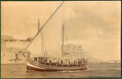 £12 • Buy Maltese Fishing Boat, Superb Real Photographic Card By Ellis Of Malta C1900.