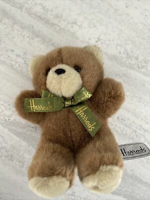 £3.83 • Buy Harrods Teddy Bear Soft Plush Toy Small Green Bow Tie London Bear Collectable