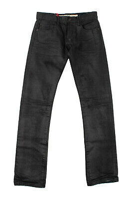 $ CDN1.71 • Buy RRP €105 KOHZO By SHAUKET Jeans Size 29 Distressed Coated Slim Fit Straight Leg