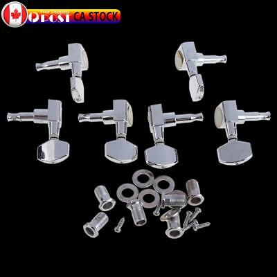 $ CDN14.38 • Buy 6 Chrome Guitar String Tuning Pegs Tuners Machine Heads Acoustic Electric *CA