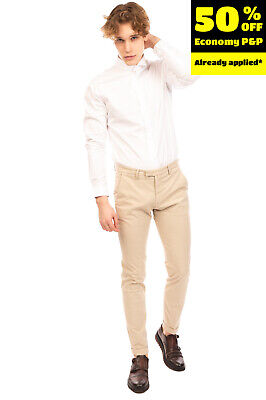 $ CDN1.71 • Buy RRP€125 QUATTRO.DECIMI Chino Trousers Size 47 / M Stretch Slim Fit Made In Italy
