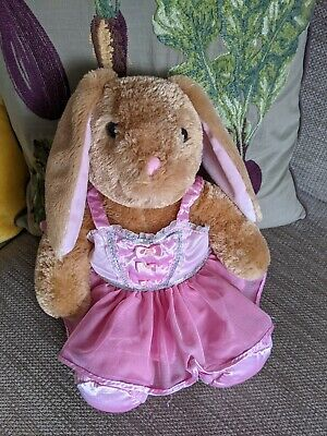 £7 • Buy Build A Bear Rabbit 15  Beautiful Bunny With Pink Dress & Ballet Shoes