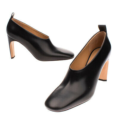 £39.99 • Buy RRP €705 JIL SANDER Leather Court Shoes Size 41 UK 8 US 11 Heel Made In Italy