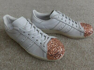 AU34.05 • Buy Adidas Superstar 80s 3D Originals White Leather Trainers Size 7