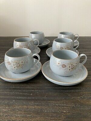 £35 • Buy Denby Reflections 6 X Cups & Saucers Superb Condition