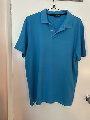 £2.99 • Buy Marks And Spencers  Blue Harbour Polo Shirt Size Large