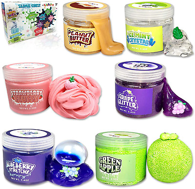 AU41.87 • Buy Slime Kit For Girls Boys 6 Different Scented & Premade Slimes In 28oz Containers