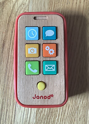 £5 • Buy Wooden Toys Janod First Phone Wooden Sound Making First Phone In Silicon Cover