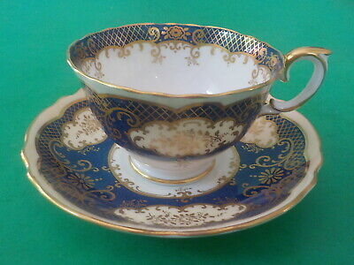 £10.78 • Buy Crown Staffordshire Blue & Gilt Cup & Saucer Excellent