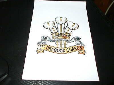 £2.50 • Buy The 3rd Dragoon Guards Regiment 7x5 Inch Approx Crest Sticker