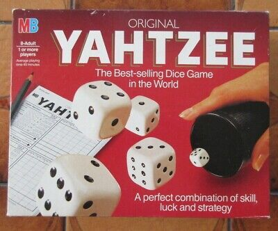 £6 • Buy YAHTZEE By MB Games - Vintage 1982 Set Complete & VGC With Full Score Pad.